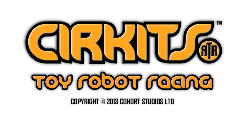 Cirkits Toy Robot Racing Game Logo
