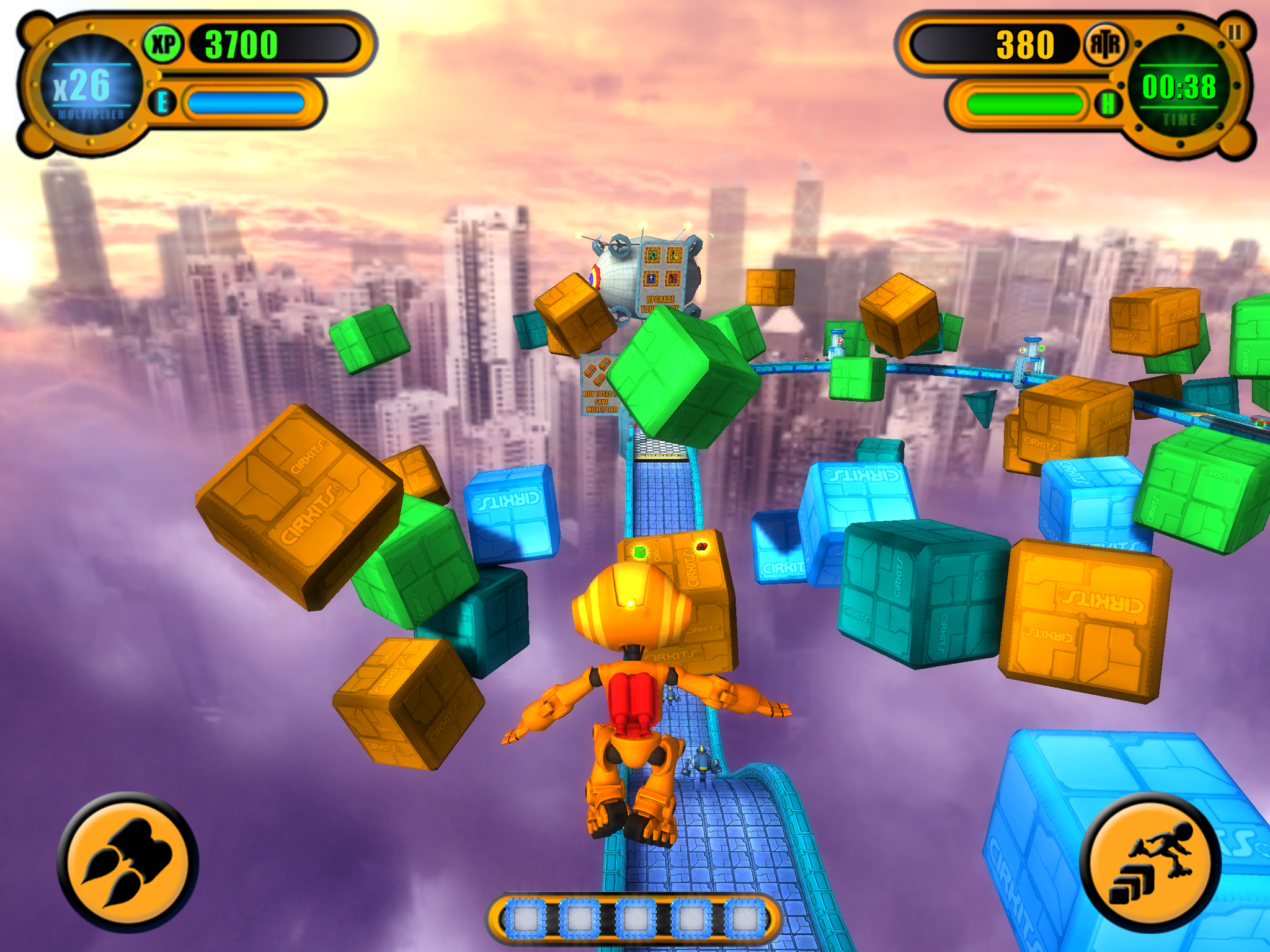 A screenshot of the game taken on iPad 3 using Gizmo Robot