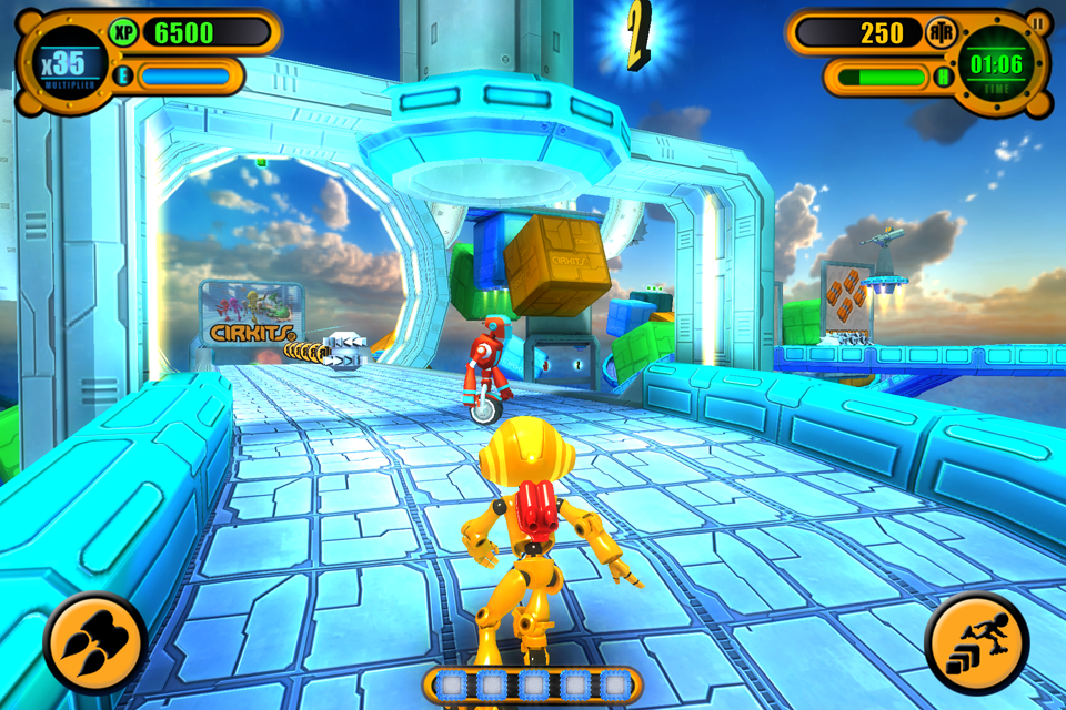 A screenshot of the game taken on iPhone4S using Gizmo Robot